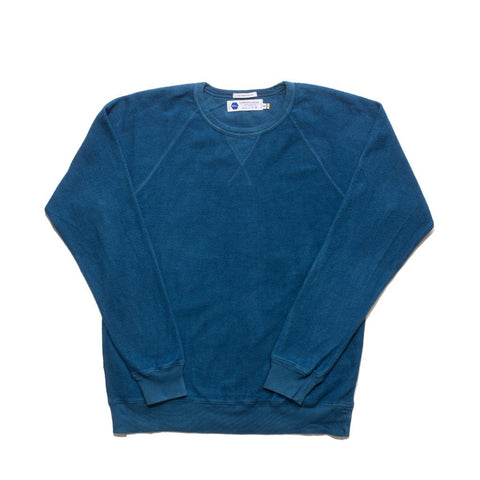 Reversed Fleece Sweatshirt - 6 Dips Indigo