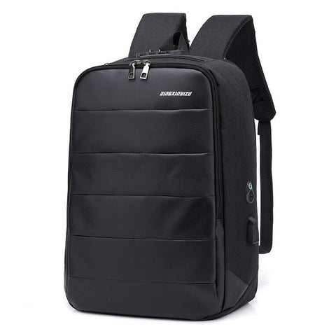 Anti-theft password lock USB backpack - So Suave