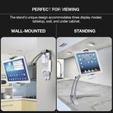 🏆 Award Winning Freedom Bracket™ the Tablet & Phone Free Standing and Wall Bracket - So Suave