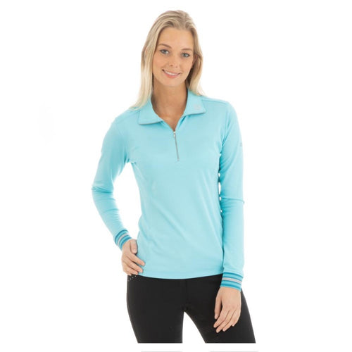 Anky Long-Sleeve Polo Shirt - Island Blue