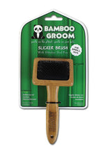 Load image into Gallery viewer, Bamboo Groom Slicker Brush - Small