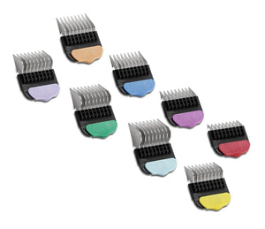 Andis Universal Stainless Steel Comb Set 8 Pack + Container - 3mm to 22mm