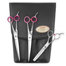 "Load image into Gallery viewer, Geib Gator 8.5"" 3 Piece Scissor Set with Case"