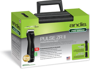 Andis Pulse ZR II Cordless  VET Pack - with 40 Blade 2 Batteries and Case