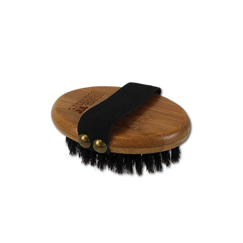 Bamboo Groom Palm Curry Brush With Natural Boar Bristles