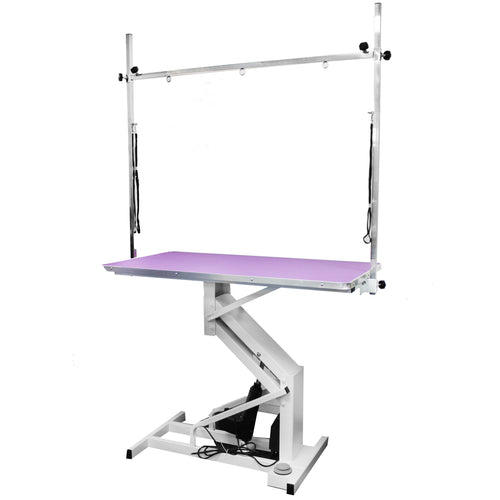 Beaumont Electric Lift Grooming Table 110cm - Purple