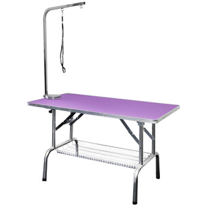Beaumont Foldable Grooming Table 110cm - Purple