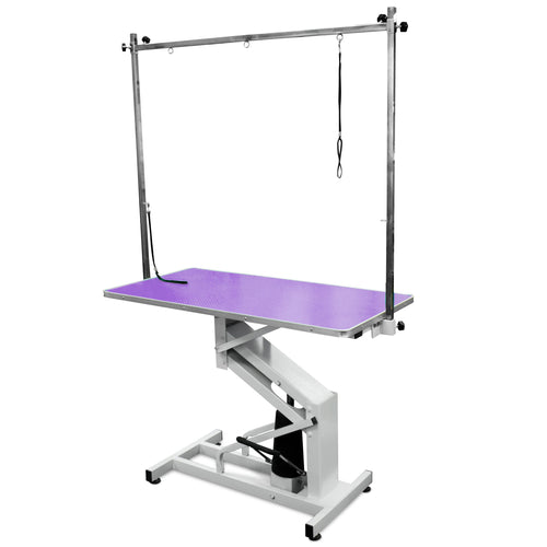 Beaumont Hydraulic Lift Grooming Table 110cm - Purple