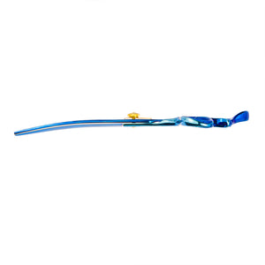 "Geib Kiss Gold/Blue 7.5"" Curved Scissors"