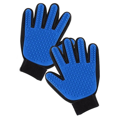 Supurr Pet Grooming Gloves Blue