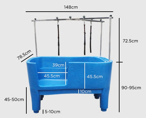 moulded tub measurements - for blue and purple