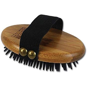 Bamboo Groom Wet Dry Palm Curry Brush