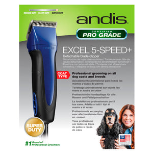 Andis Excel 5 Speed Clipper - Navy