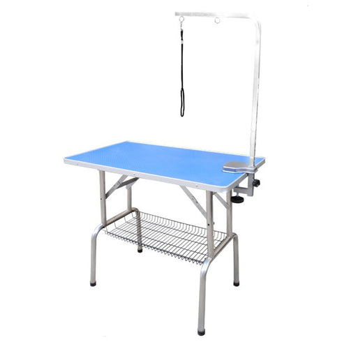 Beaumont Foldable Grooming Table 110cm Blue