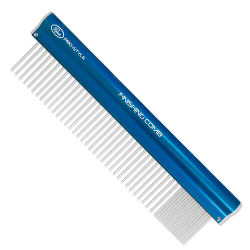 Resco® Pro-Style Finishing Comb Coarse/Fine - Electric Blue