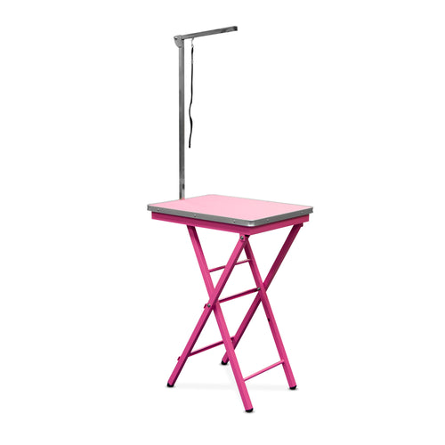Beaumont Foldable Adjustable Table 60cm PINK - SAVE 15% > WAS $128.02