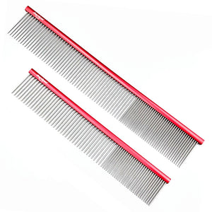 "Shernbao Butter Combs 7"" and 9"" Combs in Red"