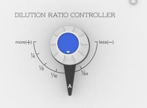 Shampoo dilution rate controller