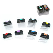 Load image into Gallery viewer, Wahl Universal Stainless Steel Comb Set 8 Pack + Container - 3mm to 2.5cm