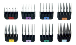 Wahl Universal Stainless Steel Comb Set 8 Pack + Container - 3mm to 2.5cm