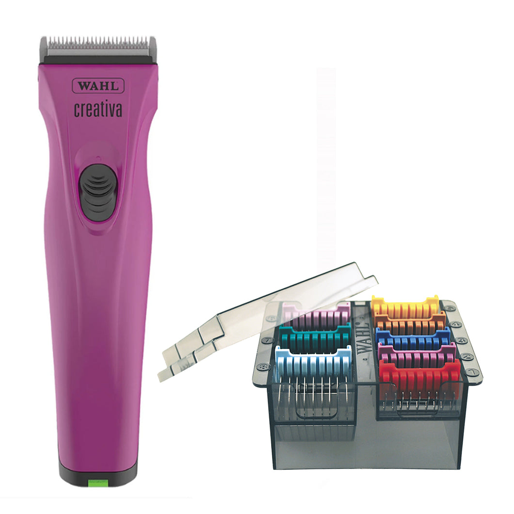 BONUS Wahl Creativa Cordless Clipper + Starter Kit and FREE Guide Comb Set