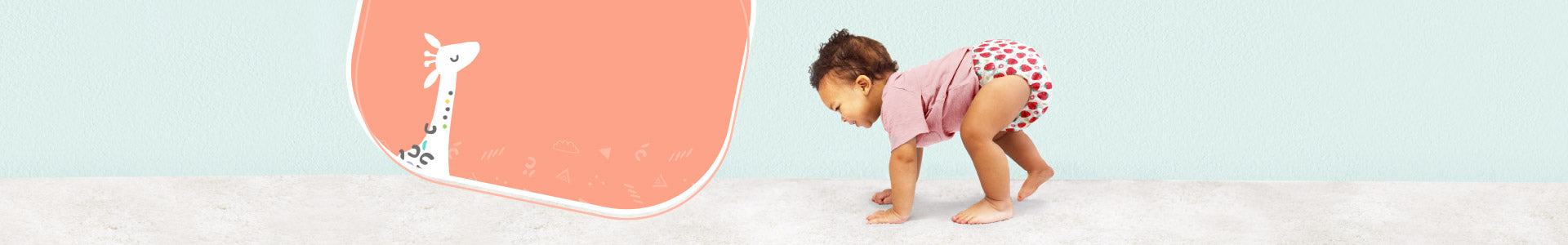 miosolo all in one nappy collection page banner with three miosolos