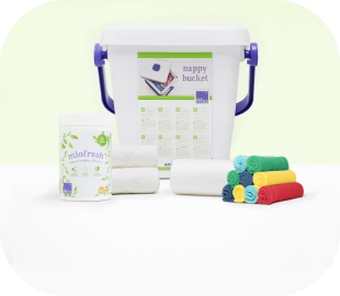 Selection of Bambino Mio nappy changing accessories