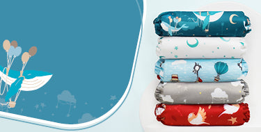 Bambino Mio dream traveller collection banner with nappy stack