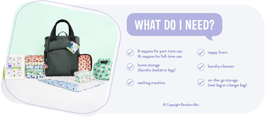 Checklist of essential items to get started with cloth nappies