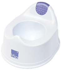 White plastic potty part of mix and match