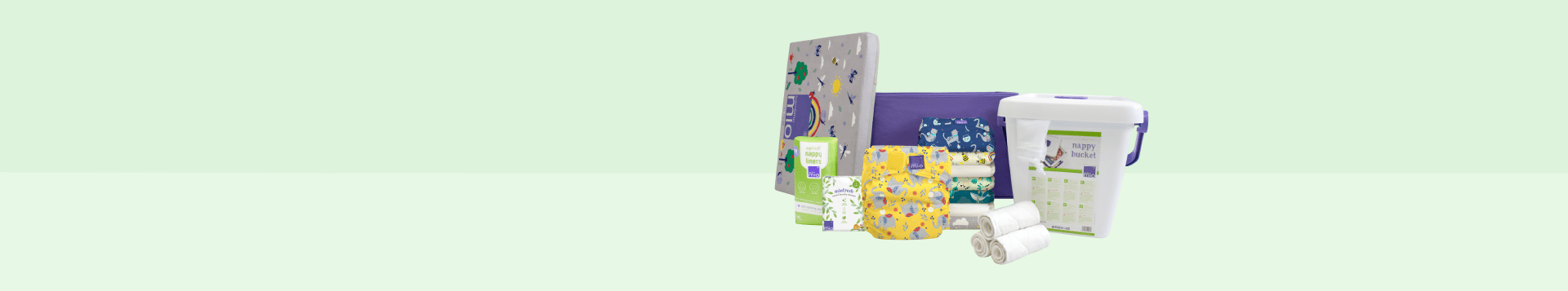 Banner showing the perfect cloth nappy starter set