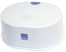 White plastic toddler step stool part of mix and match