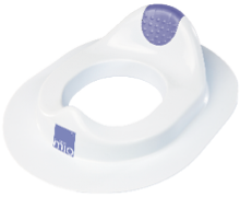 White plastic toilet training seat part of mix and match