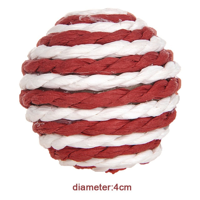 Rope ball Toy for kittens and easily bored cats