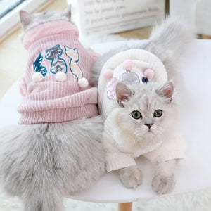 Warm Winter Cat Sweater