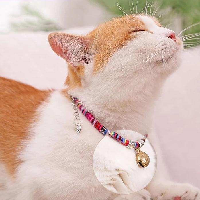 Hipster Cat Collar with Adjustable Bell