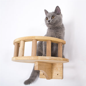 Wooden  Kitty Climbing Frame Lookout