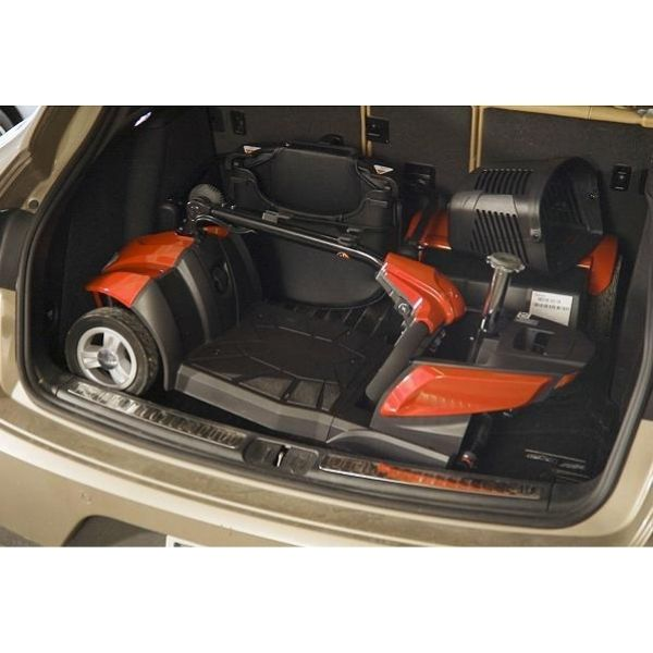 City Cruiser 4 wheel mobility scooter by EV Rider  fits easily in a trunk