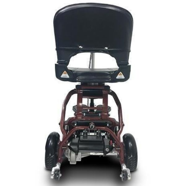 MiniRider By EVRider Folding Mobility Scooter In Red Back View