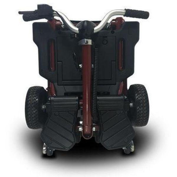 MiniRider By EVRider Folding Mobility Scooter In Red  Folding Tiller