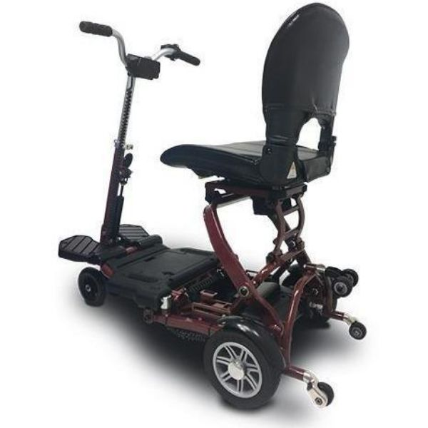 MiniRider By EVRider Folding Mobility Scooter In Red From The Back View