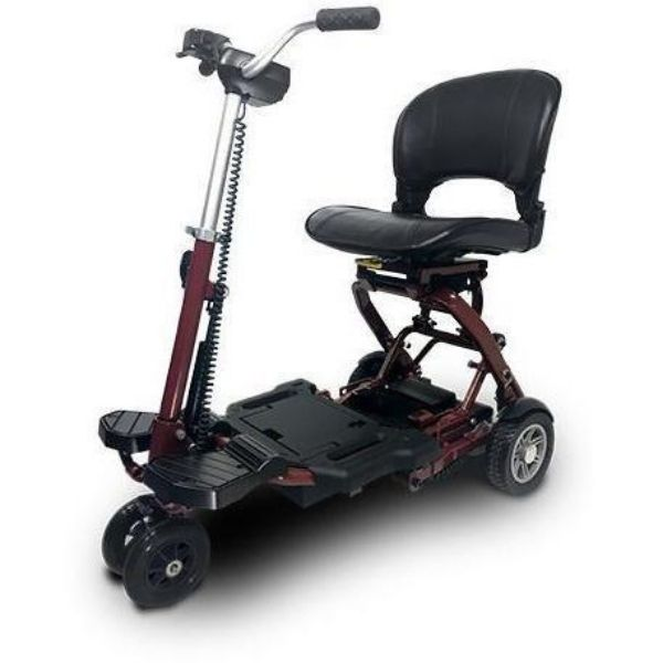 MiniRider By EVRider Folding Mobility Scooter Dark Red BurgundyFront Facing
