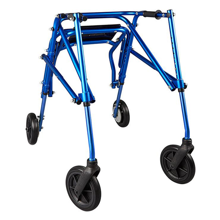 "Circle Specialty: Walking Klip 4-Wheeled with Flip Up Seat and 8"" Outdoor Wheels - KP518"