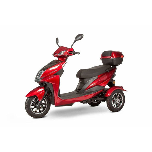 ewheels-ew-10-48v-20ah-500w-three-wheel-mobility-scooter-red-side-view