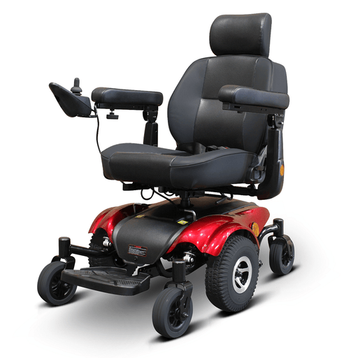 EW-M48 Heavy Duty Electric Wheelchair by EWheels red