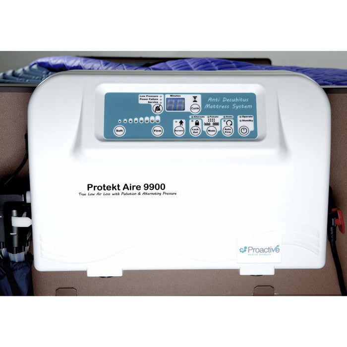 Proactive Medical Protekt Aire 9900RR Low Air Loss/Alternating Pulsation/Pressure Mattress System with Blower Pump & Raised Foam Side Rails 81090-42RR