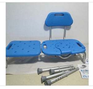 Bath Transfer Bench Chair with CUTOUT Deluxe ALL-ACCESS for Tub and Shower Transfers
