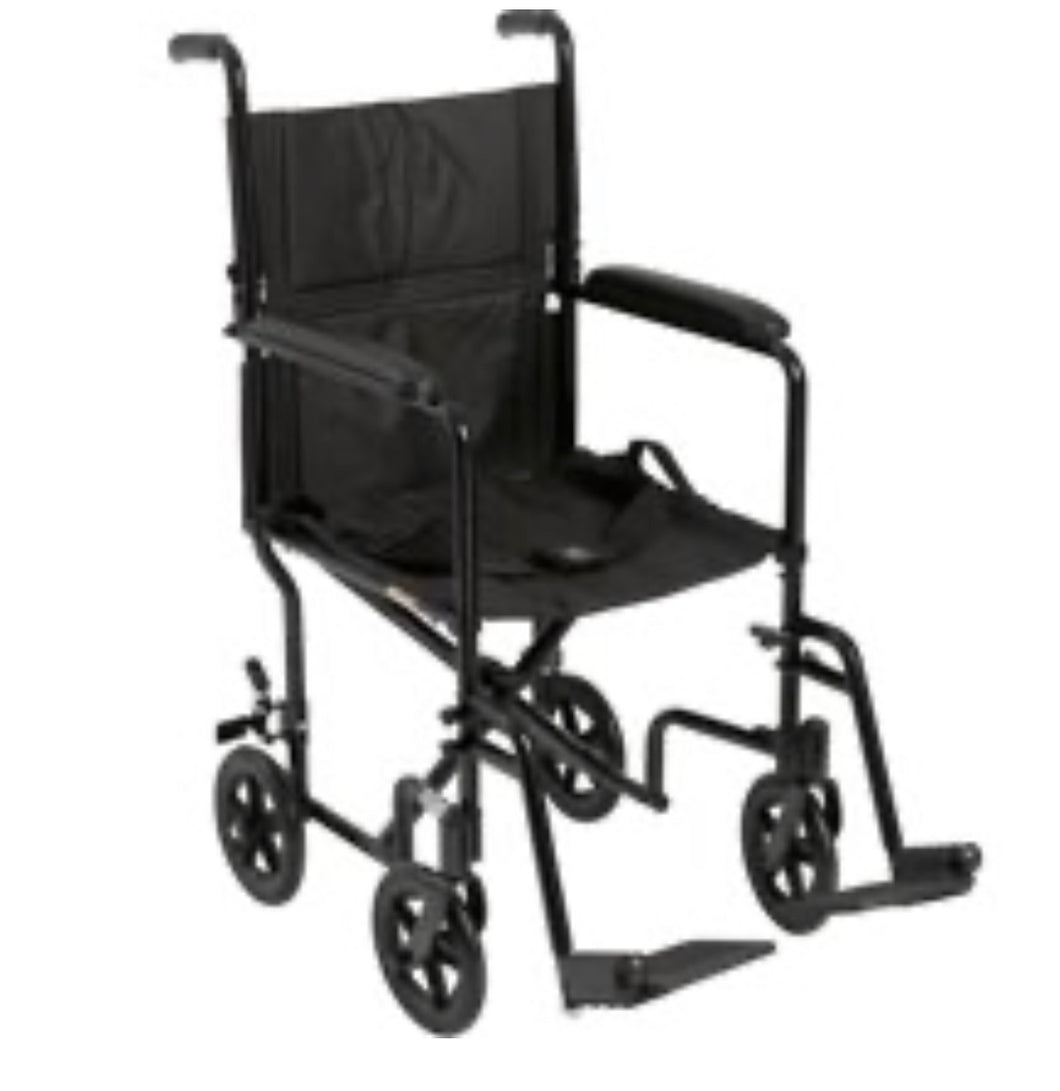 16x15 Drive Medical Lightweight Black Transport - Gently used