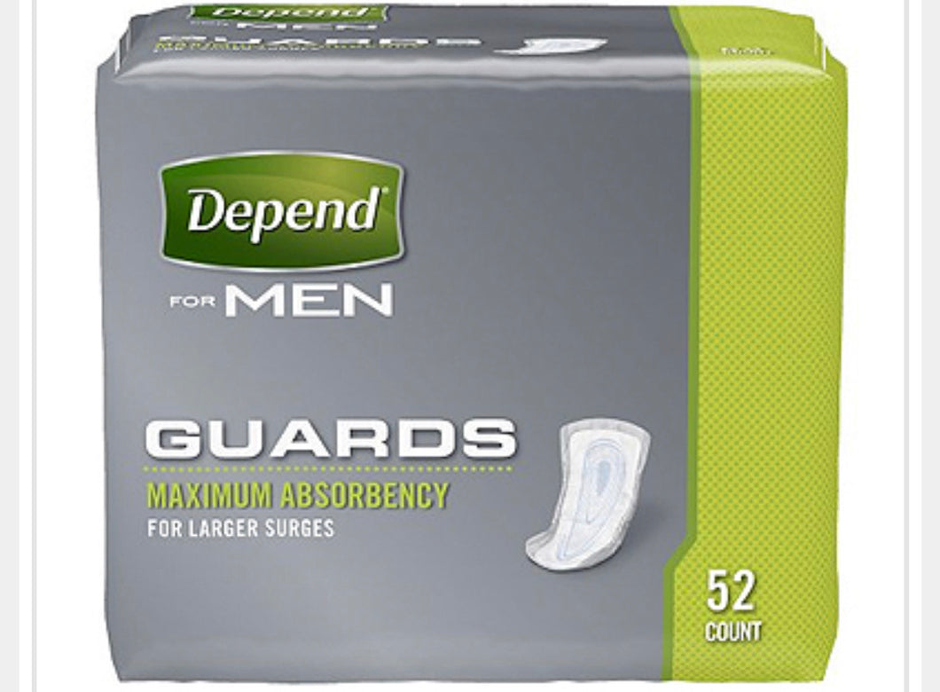 Depend for Men Guard Maxium Absorbency 52 count