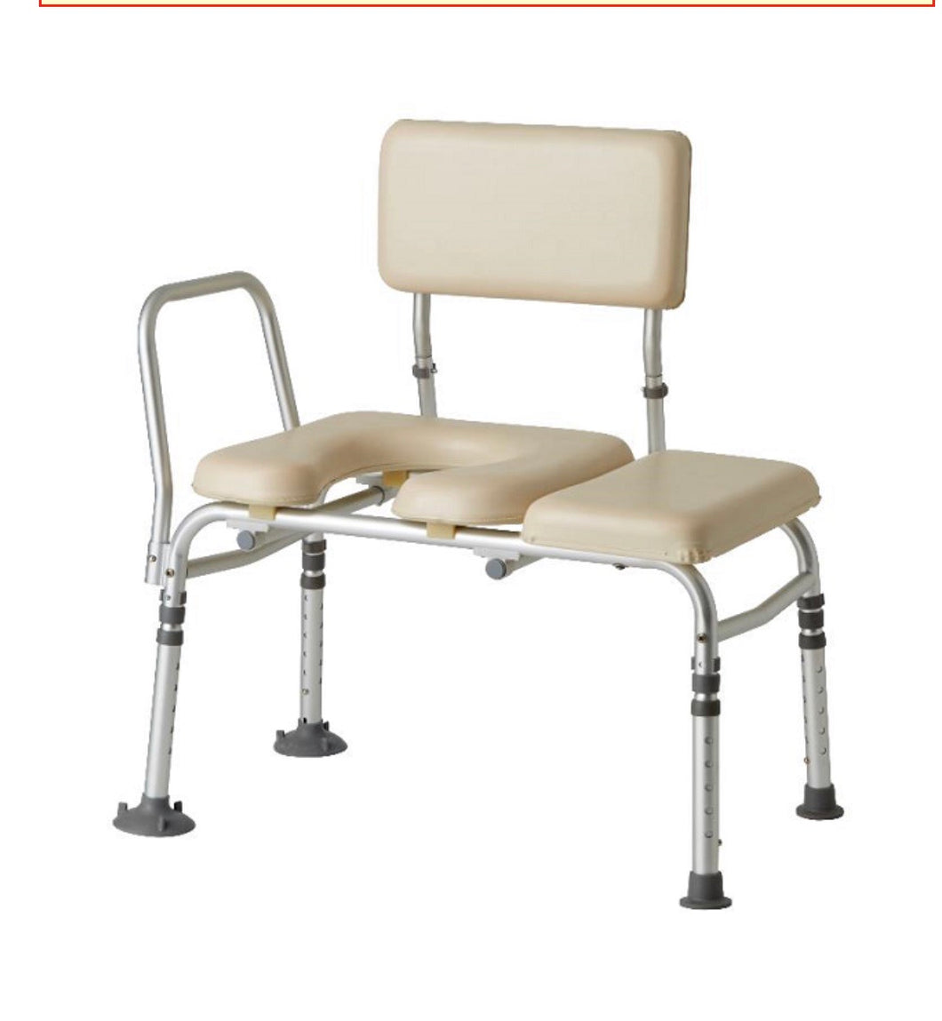 Guardian Padded Transfer Bench with Commode Opening by Medline